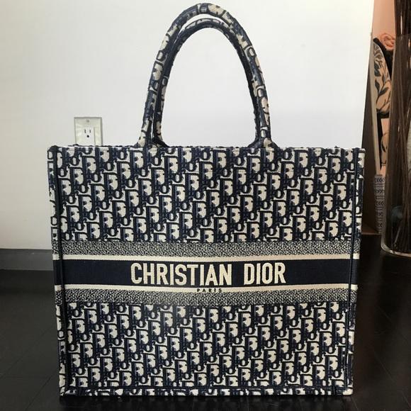8be67204832 Dior Bags | Christian Book Tote Navy Oblique Print | Poshmark